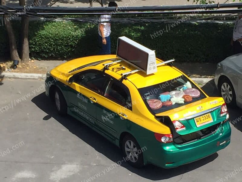 Taxi Top LED Display in Thailand
