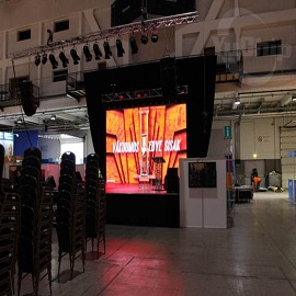 P6.25 Indoor Rental LED Video Wall In Hungary 3