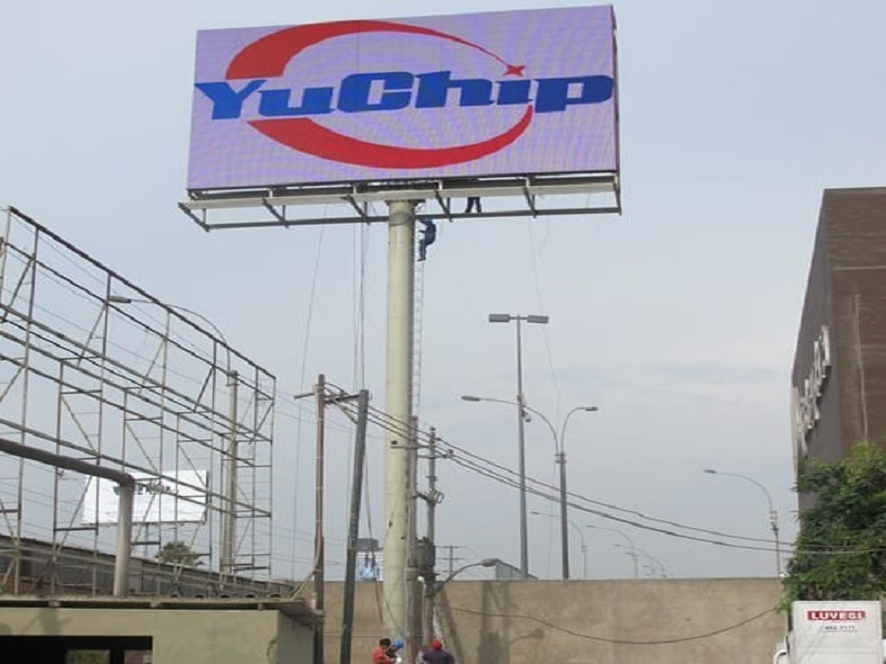 YUCHIP 172㎡ P20 Outdoor LED Display in Peru