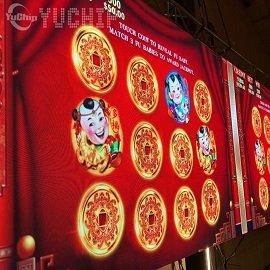 YUCHIP 42㎡ P2 LED Display Screen In Laos 8