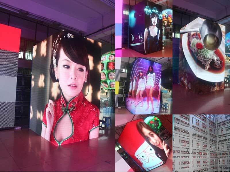 YUCHIP Four sides led display advertising indoor high resolution led display.led screen.led panel