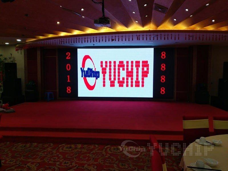 YUCHIP Indoor P4 LED Display In Hotel