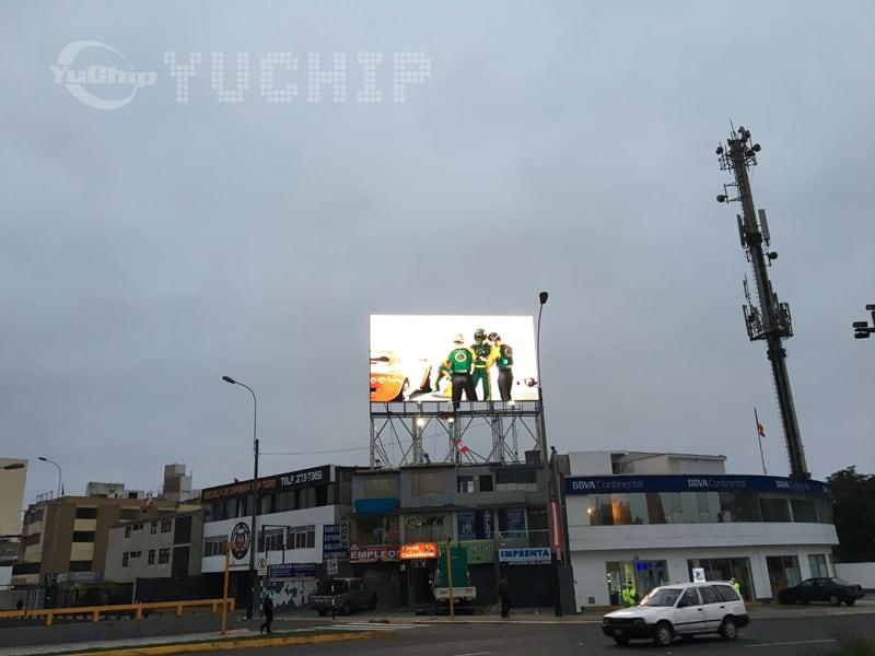 YUCHIP P20 Outdoor Advertising Screens In Peru