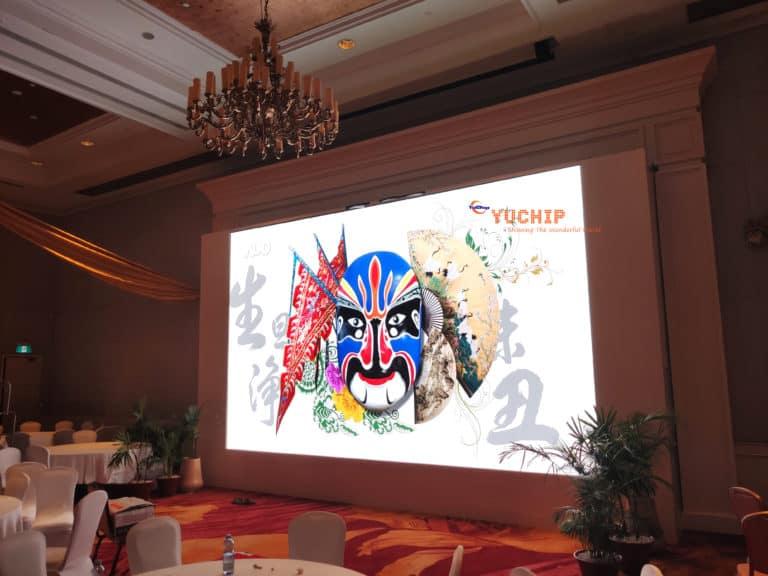 YUCHIP P2.5 LED Display Shines In Myanmar's Five-Star Hotel