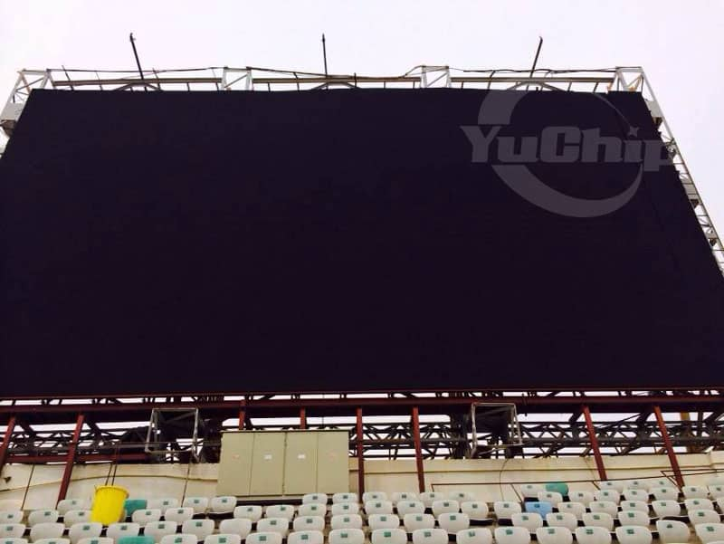 YUCHIP 250㎡ P16 Outdoor LED Display Aging Test