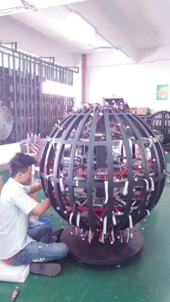 3D LED Display Globe Project