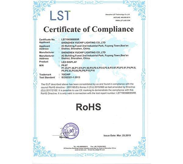 LED Display RoHS