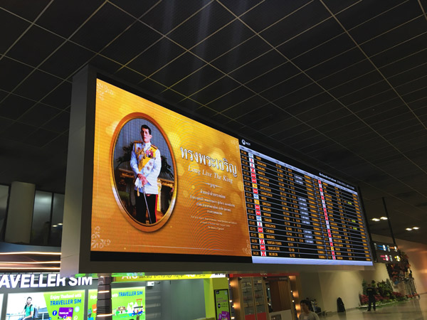 Airport LED Display in Thailand