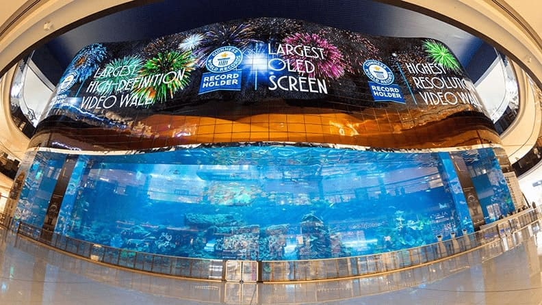 Dubai Aquarium Video Wall