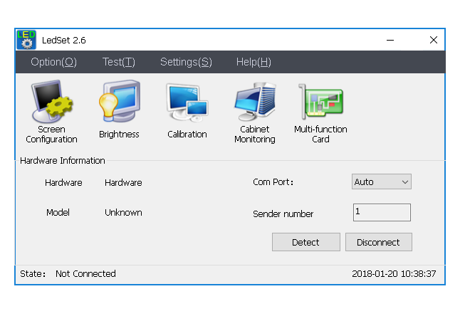 LEDset 2.0 Software