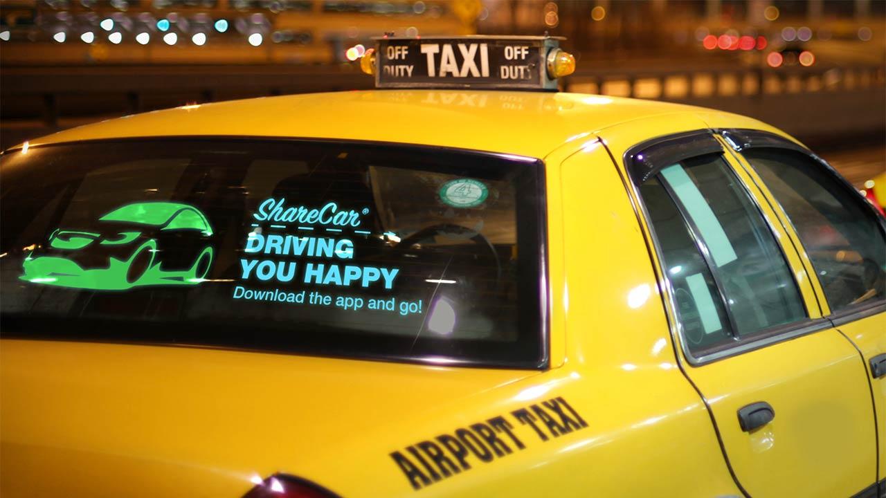 Car Window Advertising Screen