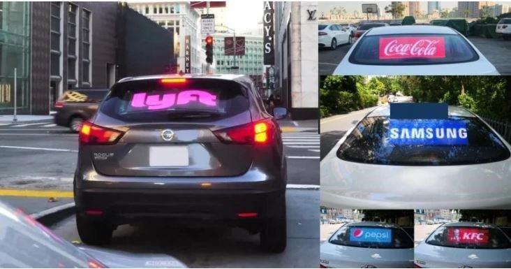 LED Car Window Emoji